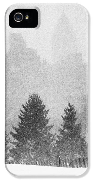 IPhone 5s Case featuring the photograph Cedar Hill Snow Shapes by Dave Beckerman