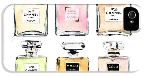 Chanel Perfumes IPhone 5s Case by Laura Row Studio