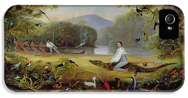Crocodile iPhone 5s Case - Charles Waterton Capturing A Cayman, 1825-26 by Captain Edward Jones