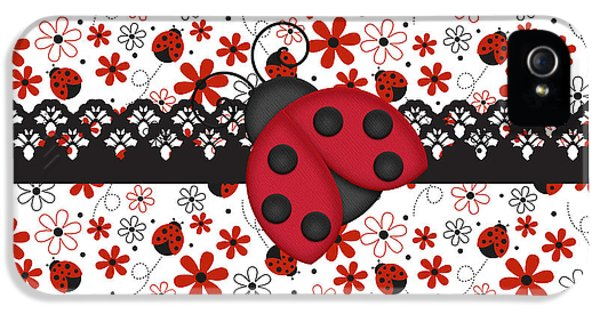 Charming Ladybugs IPhone 5s Case by Debra  Miller