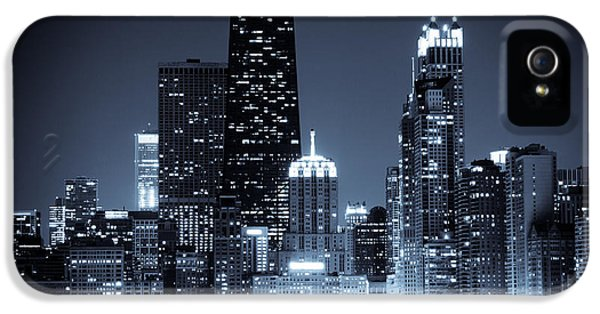 Chicago At Night With Hancock Building IPhone 5s Case by Paul Velgos