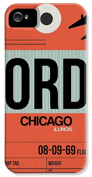 Chicago iPhone 5s Case - Chicago Luggage Poster 2 by Naxart Studio