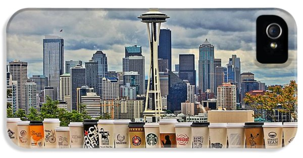 Seattle Skyline iPhone 5s Case - Choose Your Brew by Benjamin Yeager