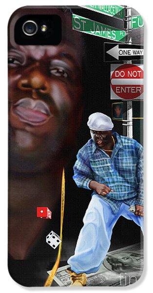 Biggie iPhone 5s Case - Christopher Wallace Way - Biggie by Reggie Duffie