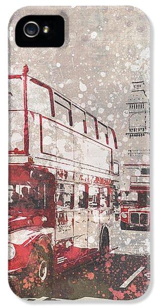 London iPhone 5s Case - City-art London Red Buses II by Melanie Viola