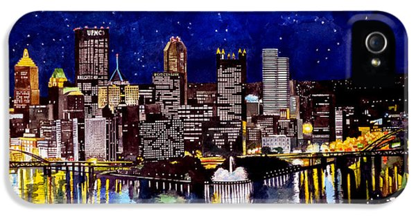 Pegasus iPhone 5s Case - City Of Pittsburgh At The Point by Christopher Shellhammer
