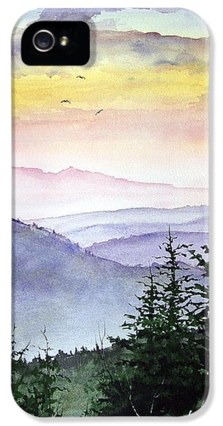 Mountain iPhone 5s Case - Clear Mountain Morning II by Sam Sidders