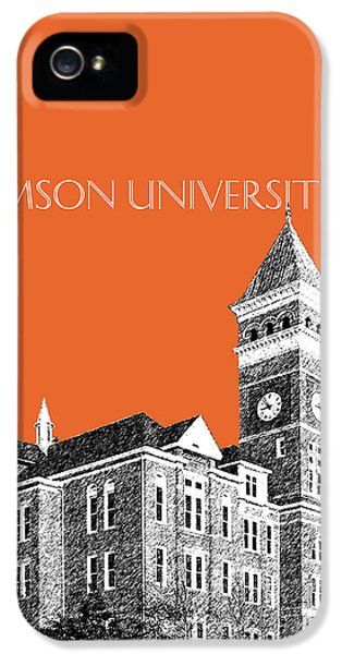 Clemson University - Coral IPhone 5s Case by DB Artist