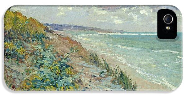 Beach iPhone 5s Case - Cliffs By The Sea At Trouville  by Gustave Caillebotte