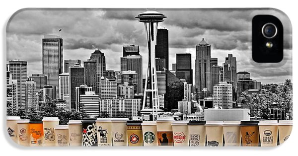 Seattle Skyline iPhone 5s Case - Coffee Capital by Benjamin Yeager