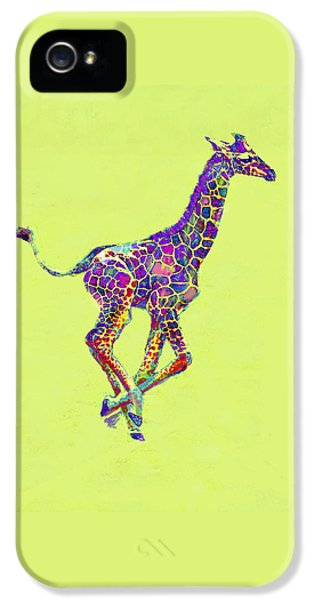 Colorful Baby Giraffe IPhone 5s Case by Jane Schnetlage