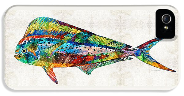 Colorful Dolphin Fish By Sharon Cummings IPhone 5s Case by Sharon Cummings