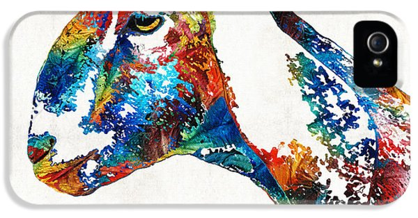 Colorful Goat Art By Sharon Cummings IPhone 5s Case