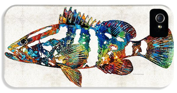 Colorful Grouper 2 Art Fish By Sharon Cummings IPhone 5s Case by Sharon Cummings