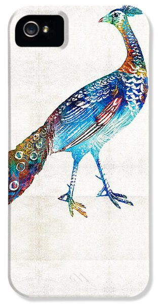 Peacock iPhone 5s Case - Colorful Peacock Art By Sharon Cummings by Sharon Cummings