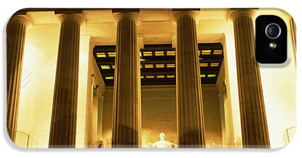Columns Surrounding A Memorial, Lincoln IPhone 5s Case by Panoramic Images