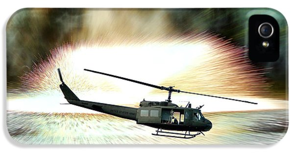 Helicopter iPhone 5s Case - Combat Helicopter by Olivier Le Queinec