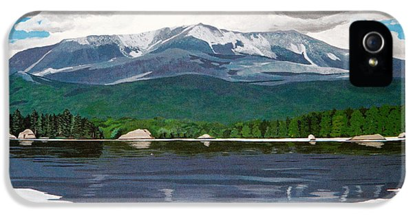 Loon iPhone 5s Case - Common Loon On Togue Pond By Mount Katahdin by Stella Sherman