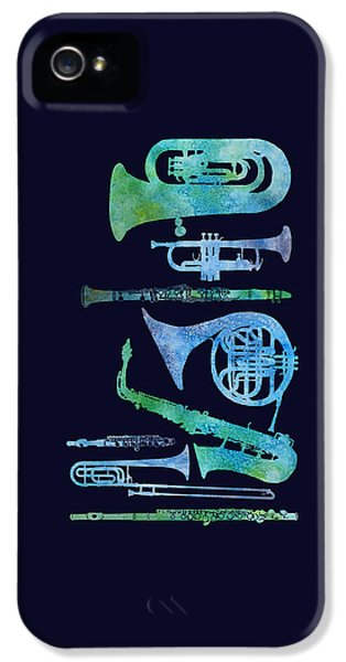 Cool Blue Band IPhone 5s Case by Jenny Armitage