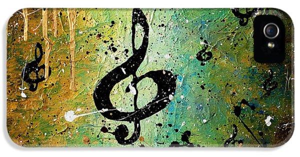 Trombone iPhone 5s Case - Cosmic Jam by Carmen Guedez