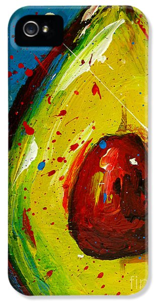 Crazy Avocado 4 - Modern Art IPhone 5s Case