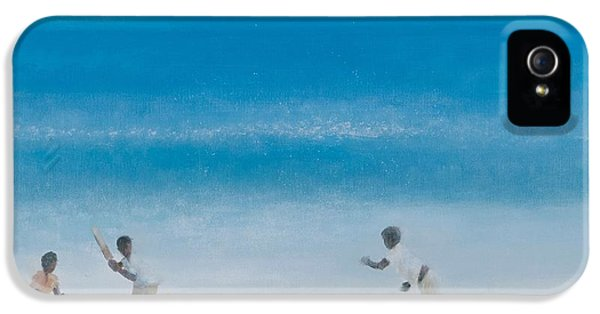Cricket iPhone 5s Case - Cricket On The Beach, 2012 Acrylic On Canvas by Lincoln Seligman