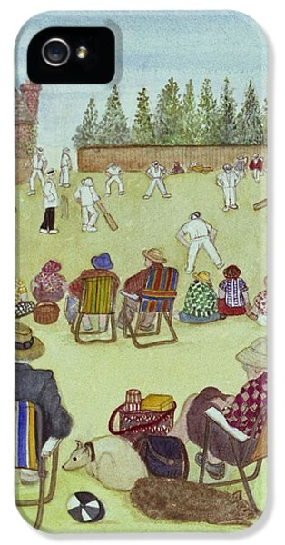 Cricket On The Green, 1987 Watercolour On Paper IPhone 5s Case by Gillian Lawson