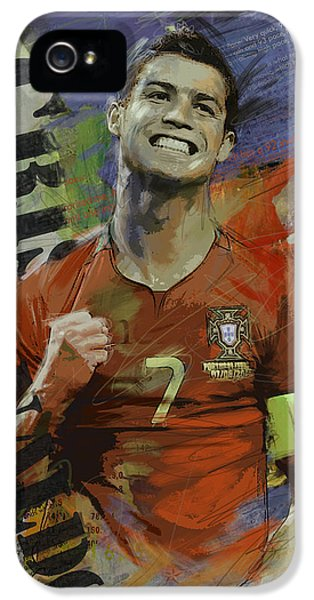Cristiano Ronaldo - B IPhone 5s Case by Corporate Art Task Force