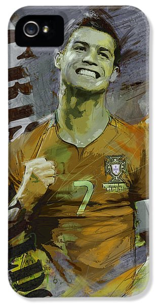 Cristiano Ronaldo IPhone 5s Case by Corporate Art Task Force