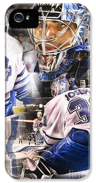 IPhone 5s Case featuring the painting Curtis Joseph Collage by Mike Oulton e44beea89