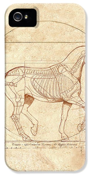 Horse iPhone 5s Case - da Vinci Horse in Piaffe by Catherine Twomey