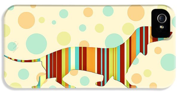 Dachshund Fun Colorful Abstract IPhone 5s Case by Natalie Kinnear