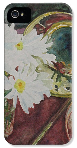 Trombone iPhone 5s Case - Daisies Bold As Brass by Jenny Armitage