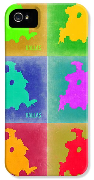 Dallas Pop Art Map 3 IPhone 5s Case by Naxart Studio