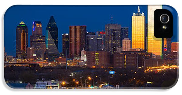Dallas Skyline Panorama IPhone 5s Case by Inge Johnsson
