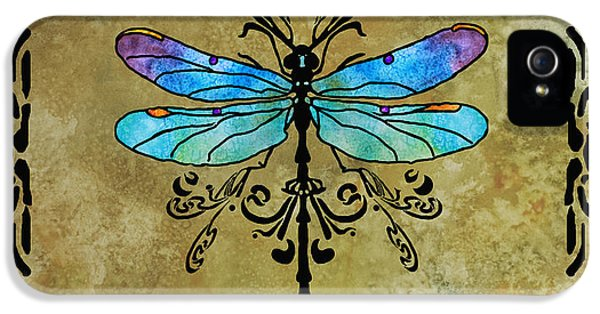 Damselfly Nouveau IPhone 5s Case by Jenny Armitage