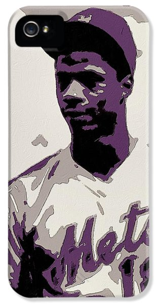 Los Angeles Dodgers iPhone 5s Case - Darryl Strawberry Poster Art by Florian Rodarte