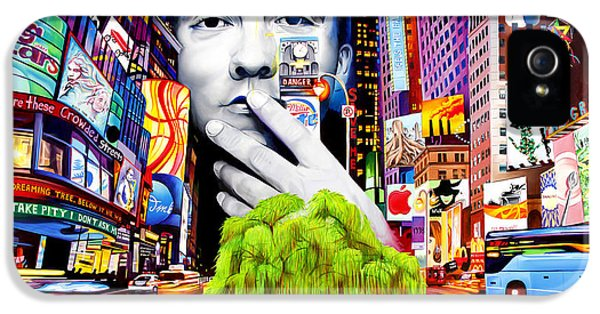 Times Square iPhone 5s Case - Dave Matthews Dreaming Tree by Joshua Morton