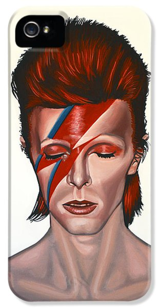 Portraits iPhone 5s Case - David Bowie Aladdin Sane by Paul Meijering