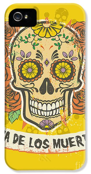 Rock And Roll iPhone 5s Case - Day Of The Dead Poster by Bazzier