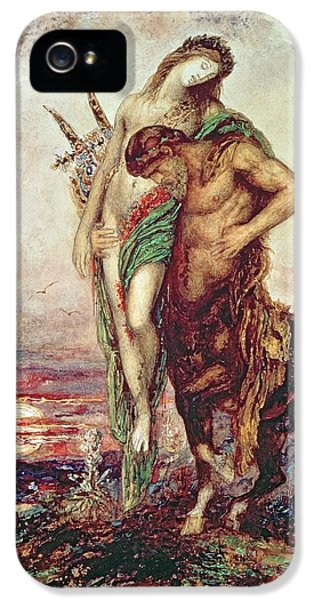 Dead Poet Borne By Centaur IPhone 5s Case by Gustave Moreau