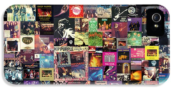 Music iPhone 5s Case - Deep Purple Collage by Zapista