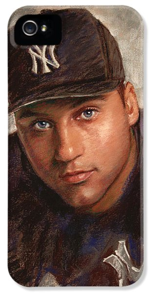 Professional Baseball Teams iPhone 5s Case - Derek Jeter by Viola El