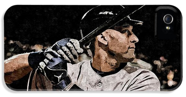 Derek Jeter On Canvas IPhone 5s Case