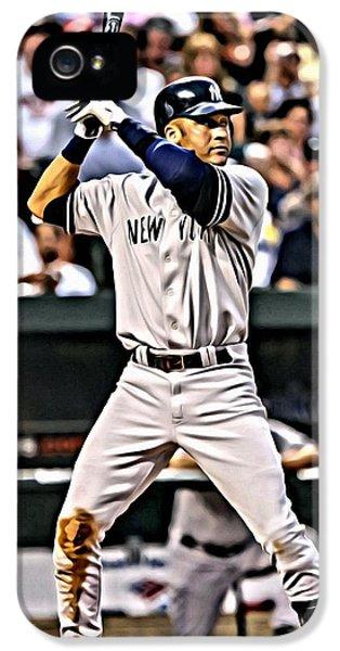 New York Yankees iPhone 5s Case - Derek Jeter Painting by Florian Rodarte