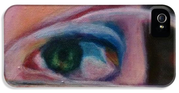 Detail iPhone 5s Case - Detail From Portrait Of Chrissy An Acrylic Painting By Anna Porter Artist by Anna Porter