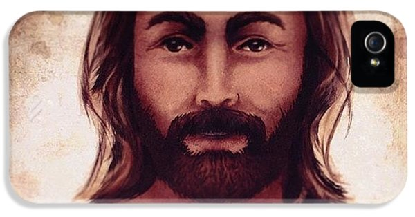 Light iPhone 5s Case - Portrait Of Jesus by April Moen