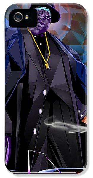 Biggie iPhone 5s Case - Diamond In The Rough - Biggie Amongst Men by Reggie Duffie