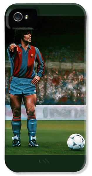 Diego Maradona IPhone 5s Case by Paul Meijering