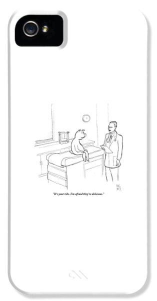 Pig iPhone 5s Case - Doctor To Pig by Paul Noth